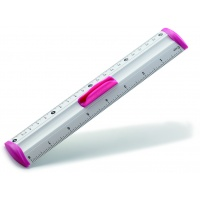 Linijka z uchwytem KEYROAD Measure Clip, 20 cm, display, mix kolorów, Linijki, ekierki, kątomierze, Artykuły do pisania i korygowania