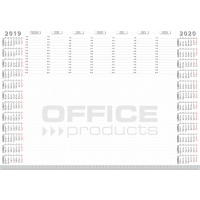 Podkładka na biurko OFFICE PRODUCTS, planer 2019/2020, biuwar, A2, 52 ark., Podkładki na biurko, Wyposażenie biura