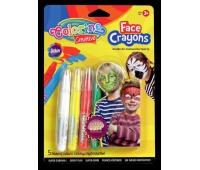 Kredki do malowania twarzy 5 szt na blistrze Standard Colorino Kids, Plastyka, Artykuły szkolne