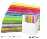 FLIZELINA METALLIC MIX KOLORÓW 50CMX5Y, Produkty kreatywne, Artykuły dekoracyjne