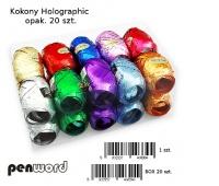 KOKONY HOLOGRAPHIC 20szt WSTĄŻKA, Produkty kreatywne, Artykuły dekoracyjne
