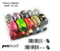 KOKONY METALIC MIX KOLORÓW 20szt WSTĄZKA, Produkty kreatywne, Artykuły dekoracyjne