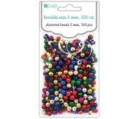 KORALIKI 5mm MIX METALICZNE 350szt, Produkty kreatywne, Artykuły dekoracyjne
