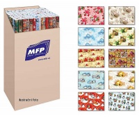 PAPIER DO PAKOWANIA 1,0x0,7m LUX MIX 2szt, Papier ozdobny, Papier i etykiety