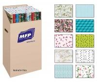 PAPIER DO PAKOWANIA 1,0x0,7m LUX MIX-2 2szt, Papier ozdobny, Papier i etykiety