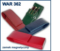 PIÓRNIK WAR-362 ETUI NA DŁUGOPISY ZAM.MAGNET., Piórniki, Artykuły szkolne