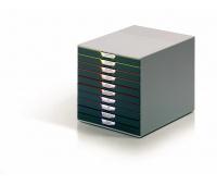 POJEMNIK 10 SZUFLAD DURABLE VARICOLOR, Szufladki na biurko, Drobne akcesoria biurowe