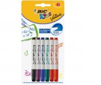 BIC KIDS Mini Velleda Marker Suchościeralny mix Blister 6 kolorów, Zestawy, Artykuły do pisania i korygowania