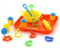 ZESTAW NACZYŃ DO PIECZENIA Nr1 Z TACĄ, Zabawki
