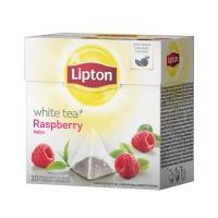 HERBATA LIPTON PIRAMIDKA WHITE MALINA 20T, Artykuły spożywcze, Herbata, kawa