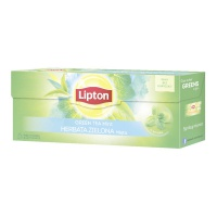 HERBATA LIPTON ZIELONA MINT 25 KOPERT, Artykuły spożywcze, Herbata, kawa
