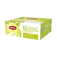 HERBATA LIPTON GREEN TEA CITRUS 100 KOPERT, Artykuły spożywcze, Herbata, kawa