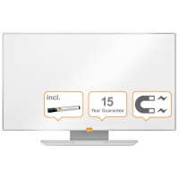 """Tablica suchoś. -magn. NOBO Nano Clean™, 90x51cm, panoramiczna 40"""", stal lakierowana, rama aluminiowa, Tablice suchościeralne, Prezentacja"""