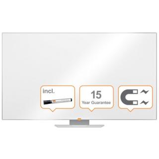 """Tablica suchoś. -magn. NOBO Nano Clean™, 156x88cm, panoramiczna 70"""", stal lakierowana, rama aluminiowa, Tablice suchościeralne, Prezentacja"""