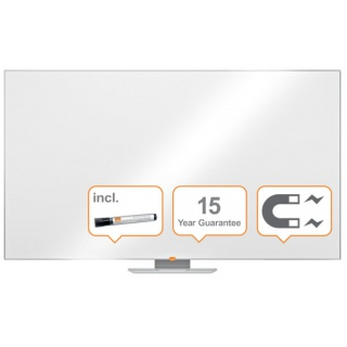 """Tablica suchoś. -magn. NOBO Nano Clean™, 189x107cm, panoramiczna 85"""", stal lakierowana, rama aluminiowa, Tablice suchościeralne, Prezentacja"""