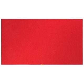"""Tablica filcowa NOBO, 72x41cm, panoramiczna 32"""", czerwona, Tablice filcowe, Prezentacja"""