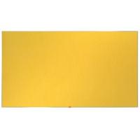 """Tablica filcowa NOBO, 90x51cm, panoramiczna 40"""", żółta, Tablice filcowe, Prezentacja"""