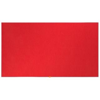 """Tablica filcowa NOBO, 123x70cm, panoramiczna 55"""", czerwona, Tablice filcowe, Prezentacja"""