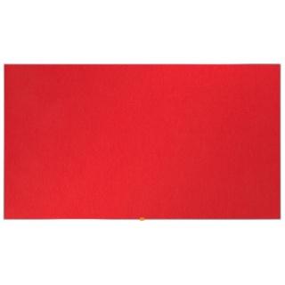 """Tablica filcowa NOBO, 189x107cm, panoramiczna 85"""", czerwona, Tablice filcowe, Prezentacja"""