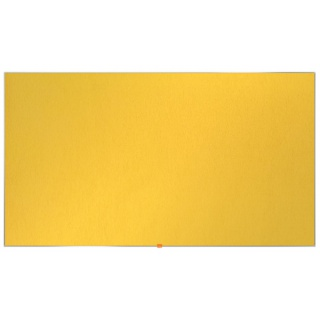 """Tablica filcowa NOBO, 189x107cm, panoramiczna 85"""", żółta, Tablice filcowe, Prezentacja"""