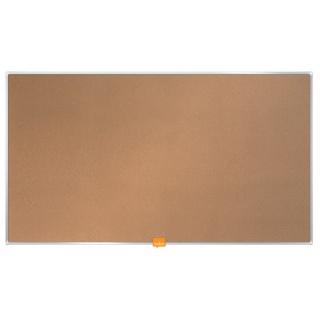 """Tablica korkowa NOBO, 90x51cm, panoramiczna 40"""", rama aluminiowa, Tablice korkowe, Prezentacja"""