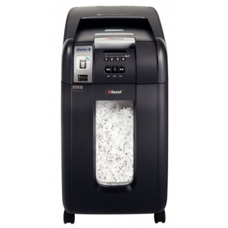 Niszczarka automatyczna REXEL SmartTech Auto+ 300X, konfetti, P-4, 300 kart., 40l, karty kredytowe/CD, czarna, Niszczarki, Urządzenia i maszyny biurowe
