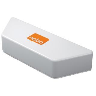 Gąbka do tablicy NOBO, magnetyczna, z wymiennym wkładem, biała, Bloki, magnesy, gąbki, spraye do tablic, Prezentacja