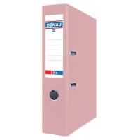 Segregator ringowy DONAU Life, pastel, A4/75mm, różowy, Segregatory polipropylenowe, Archiwizacja dokumentów
