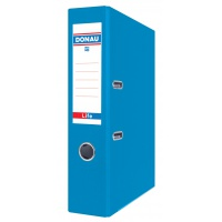 Segregator ringowy DONAU Life, neon, A4/75mm, niebieski, Segregatory polipropylenowe, Archiwizacja dokumentów