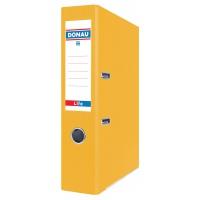 Segregator ringowy DONAU Life, neon, A4/75mm, żółty, Segregatory polipropylenowe, Archiwizacja dokumentów