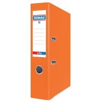 Segregator ringowy DONAU Life, neon, A4/75mm, pomarańczowy, Segregatory polipropylenowe, Archiwizacja dokumentów