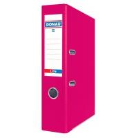 Segregator DONAU Life, neon, A4/75mm, różowy, Segregatory polipropylenowe, Archiwizacja dokumentów