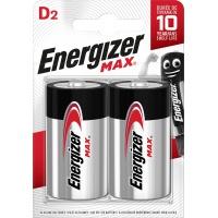 Bateria ENERGIZER Max, D, LR20, 1,5V, 2szt., Baterie, Urządzenia i maszyny biurowe