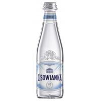 Woda CISOWIANKA Jubileuszowa, gazowana, butelka szklana, 0,3l, Woda, Artykuły spożywcze