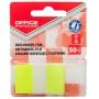 Zakładki indeksujące OFFICE PRODUCTS, PP, 25x43mm, 1x50 kart., blister, żółte, Zakładki indeksujące, Papier i etykiety