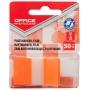 Zakładki indeksujące OFFICE PRODUCTS, PP, 25x43mm, 1x50 kart., blister, pomarańczowe, Zakładki indeksujące, Papier i etykiety