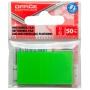 Zakładki indeksujące OFFICE PRODUCTS, PP, 25x43mm, 1x50 kart., zawieszka, zielone, Zakładki indeksujące, Papier i etykiety