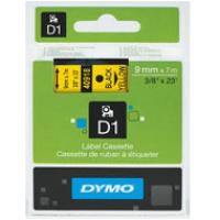 Dymo taśma do drukarek etykiet, D1 40918 | 9mm x 7m | czarny / żółty, Folie do drukarek, Materiały eksploatacyjne