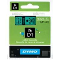 Dymo taśma do drukarek etykiet, D1 40919 | 9mm x 7m | czarny / zielony, Folie do drukarek, Materiały eksploatacyjne