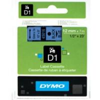 Dymo taśma do drukarek etykiet, D1 45016 | 12mm x 7m | czarny / niebieski, Folie do drukarek, Materiały eksploatacyjne