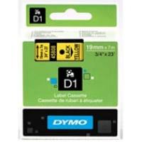Dymo taśma do drukarek etykiet, D1 45808 | 19mm x 7m | czarny / żółty, Folie do drukarek, Materiały eksploatacyjne