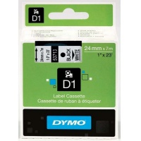 Dymo taśma do drukarek etykiet, D1 53713 | 24mm x 7m | czarny / biały, Folie do drukarek, Materiały eksploatacyjne
