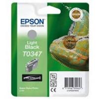 Tusz Epson T0347 do Stylus Photo 2100 | 17ml | light black, Tusze, Materiały eksploatacyjne