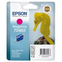 Tusz Epson T0483 do R-200/220/300/340, RX-500/600/640 | 13ml | magenta, Tusze, Materiały eksploatacyjne