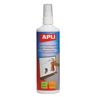 Spray do tablic suchościeralnych APLI, 250ml, Bloki, magnesy, gąbki, spraye do tablic, Prezentacja