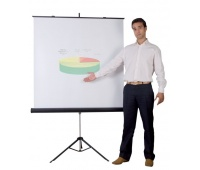 Tripod Screen BI-OFFICE, 180x180cm