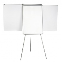 Flipchart Tripod Easel 70x102cm Magnetic Dry-wipe Board with Extending Display Arms