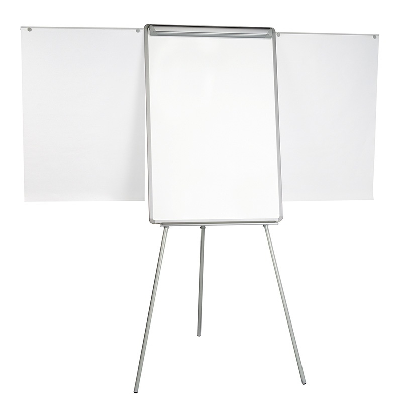 Flipchart Tripod Easel BI-OFFICE, 70x102cm, Magnetic Dry-wipe Board, with Extending Display Arms
