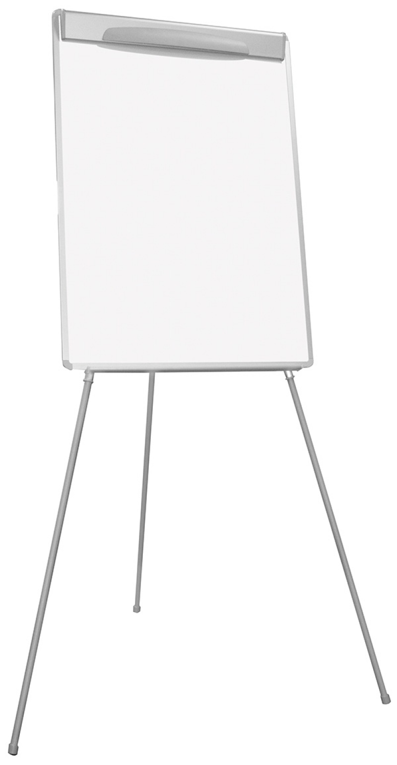 Flipchart Tripod Easel BI-OFFICE, 70x102cm, Magnetic Dry-wipe Board, with an Extending Display Arm
