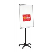 Flipchart Mobile Easel BI-OFFICE, 70x102cm, Magnetic Dry-wipe Board